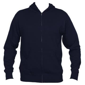 Aspen, Colorado Mountain & Trees - Men's Full-Zip Hooded Sweatshirt/Hoodie