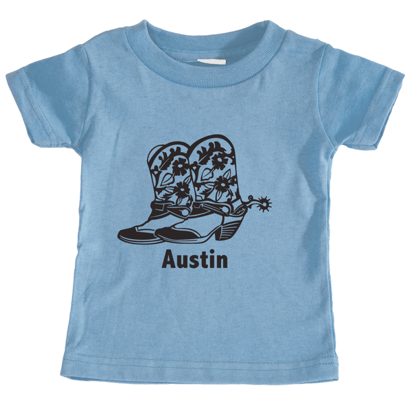 Austin, Texas Cowboy Boots - Infant T-Shirt