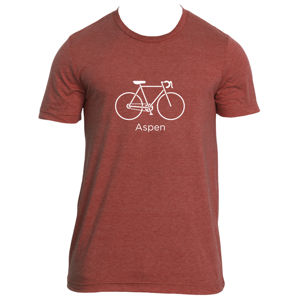 Aspen, Colorado Bicycle - Men's T-Shirt