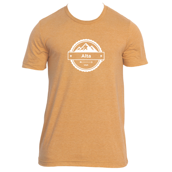 Alta, Utah Circle Three Peak - Men's T-Shirt