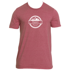 Aspen, Colorado Circle Three Peak - Men's T-Shirt