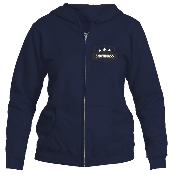 Snowmass, Colorado Mountain Altitude - Women's Full-Zip Hooded Sweatshirt/Hoodie