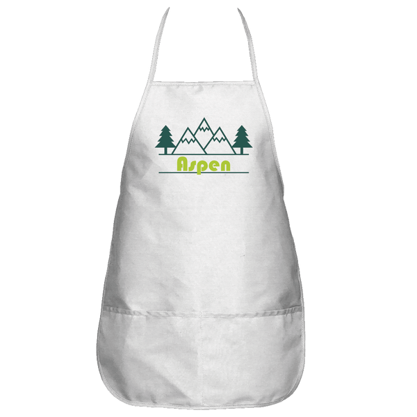 Aspen, Colorado Mountain & Trees - Apron