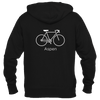 Aspen, Colorado Bicycle - Men's Full-Zip Hooded Sweatshirt/Hoodie