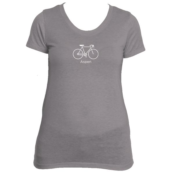 Aspen, Colorado Bicycle - Women's Tri-Blend T-Shirt