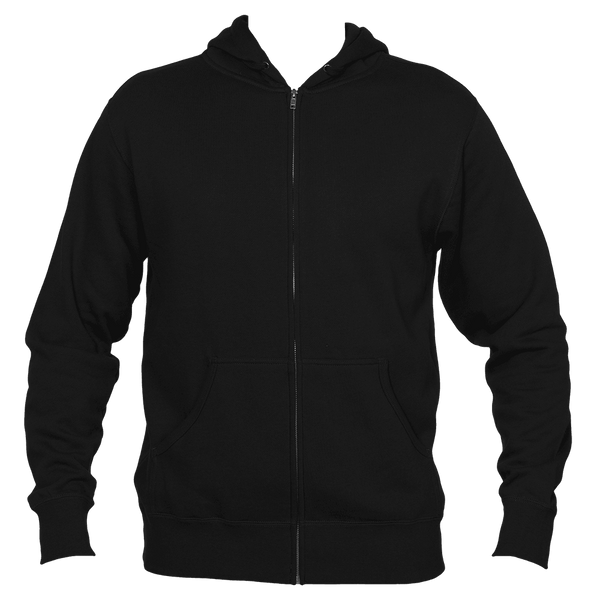 Breckenridge, Colorado Mountain & Trees in Green - Men's Full-Zip Hooded Sweatshirt/Hoodie