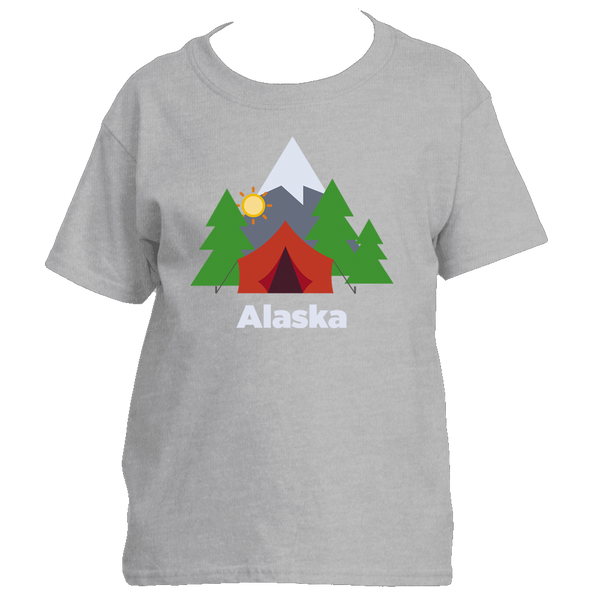 Alaska Mountain Camping - Youth/Kid's T-Shirt