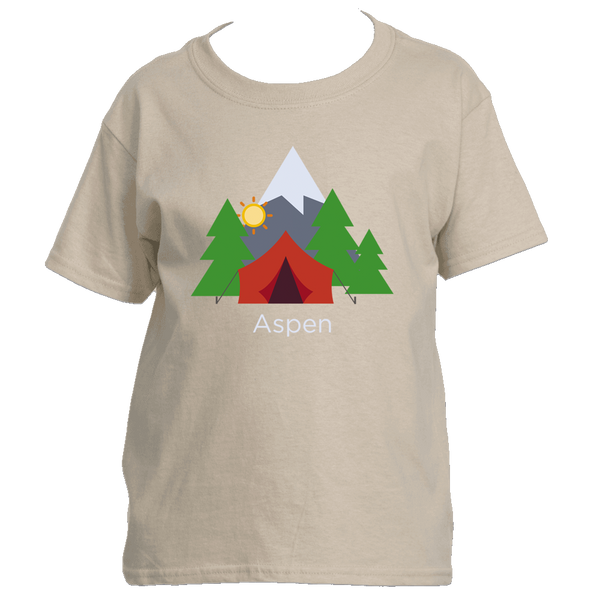 Aspen, Colorado Mountain Camping - Youth/Kid's T-Shirt