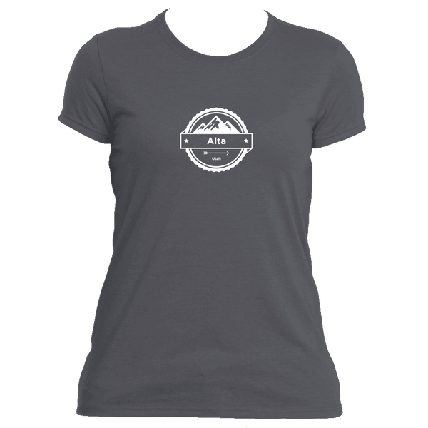 Alta, Utah Circle Three Peak - Women's Moisture Wicking T-Shirt
