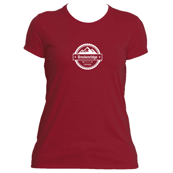Breckenridge, Colorado Circle Three Peak - Women's Moisture Wicking T-Shirt