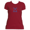 Breckenridge, Colorado Crossed Snow Skis - Women's Moisture Wicking T-Shirt