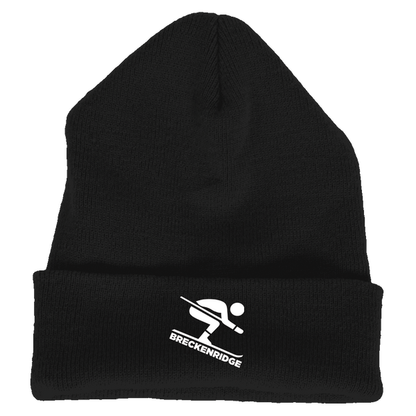Breckenridge, Colorado Downhill Snow Skiing - Embroidered Knit Beanie