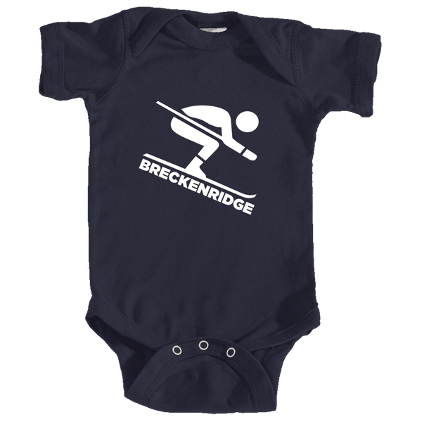 Breckenridge, Colorado Downhill Snow Skiing - Infant Onesie/Bodysuit