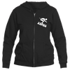 Aspen, Colorado Downhill Snow Skiing - Women's Full-Zip Hooded Sweatshirt/Hoodie