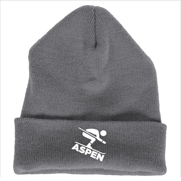 Aspen, Colorado Downhill Snow Skiing - Embroidered Knit Beanie