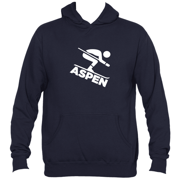 Aspen, Colorado Downhill Snow Skiing - Men's Hooded Sweatshirt/Hoodie