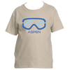 Aspen, Colorado Snowboard & Ski Goggles - Youth/Kid's T-Shirt