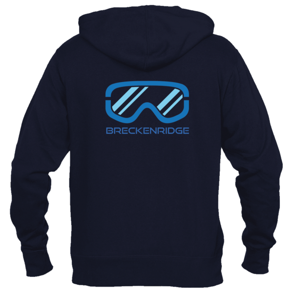 Breckenridge, Colorado Snowboard & Snow Ski Goggles - Women's Full-Zip Hooded Sweatshirt/Hoodie
