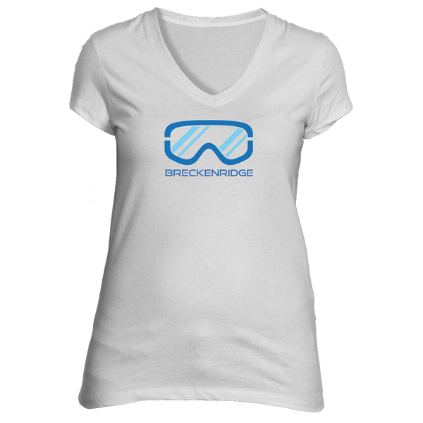 Breckenridge, Colorado Snowboard & Snow Ski Goggles - Women's V-Neck T-Shirt