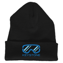 Keystone, Colorado Snowboard & Snow Ski Goggles - Embroidered Knit Beanie