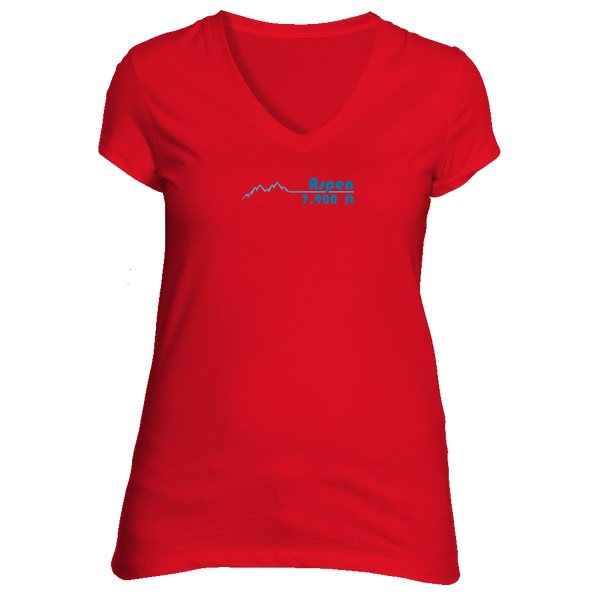 Aspen, Colorado Mountain Pulse Altitude - Women's V-Neck T-Shirt