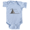 Aspen, Colorado Camping Hand Drawn - Infant Onesie/Bodysuit