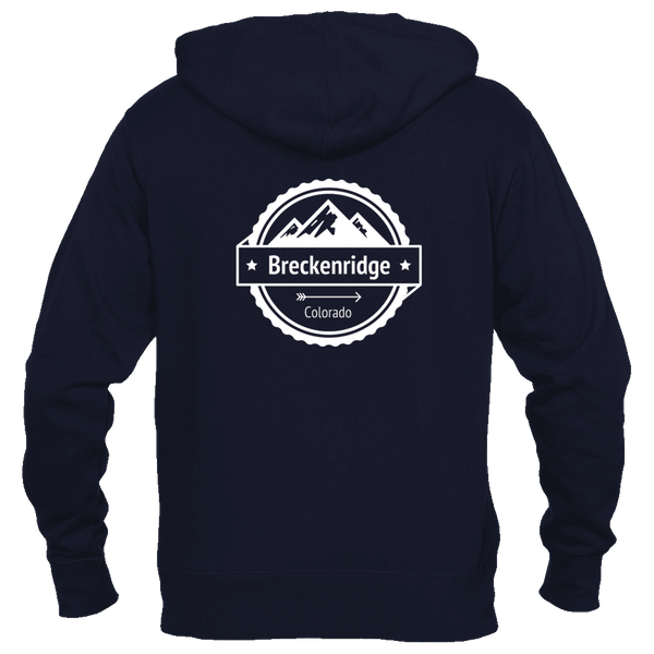 Breckenridge, Colorado Circle Three Peak - Women's Full-Zip Hooded Sweatshirt/Hoodie