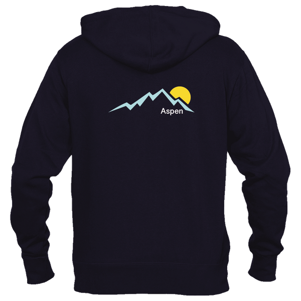 Aspen, Colorado Mountain Sunset - Women's Full-Zip Hooded Sweatshirt/Hoodie