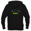 Aspen, Colorado Mountain & Trees in Green - Women's Full-Zip Hooded Sweatshirt/Hoodie