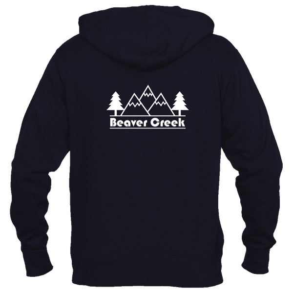 Beaver Creek, Colorado Mountain & Trees - Women's Full-Zip Hooded Sweatshirt/Hoodie