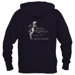 Ski Beaver Creek, Colorado Vintage - Women's Full-Zip Hooded Sweatshirt/Hoodie