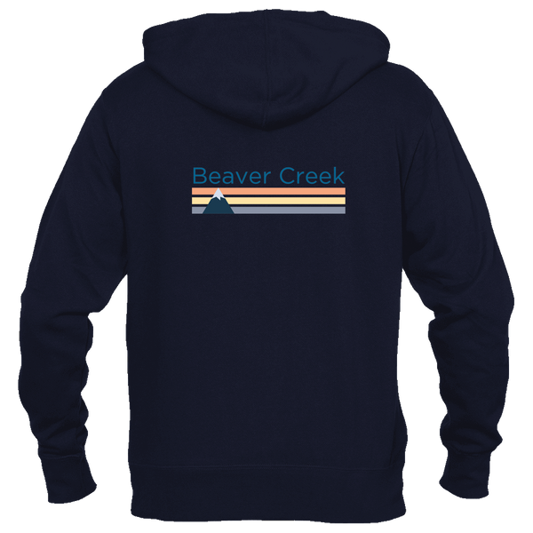 Beaver Creek, Colorado Retro Mountain - Women's Full-Zip Hooded Sweatshirt/Hoodie