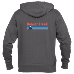 Beaver Creek, Colorado Vintage Mountain - Men's Full-Zip Hooded Sweatshirt/Hoodie