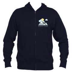 Beaver Creek, Colorado Mountains and Clouds in Color - Men's Full-Zip Hooded Sweatshirt/Hoodie