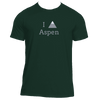 Aspen, Colorado I Heart/Love Mountain - Men's Moisture Wicking T-Shirt
