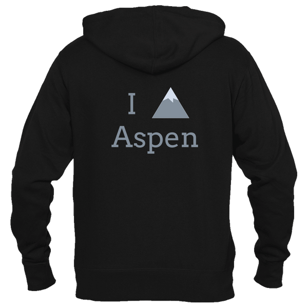 Aspen, Colorado I Heart/Love Mountain - Men's Full-Zip Hooded Sweatshirt/Hoodie