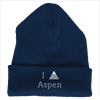 Aspen, Colorado I Heart/Love Mountain - Embroidered Knit Beanie