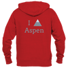 Aspen, Colorado I Heart/Love Mountain - Women's Full-Zip Hooded Sweatshirt/Hoodie