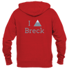 Breckenridge, Colorado I Heart/Love Mountain - Men's Full-Zip Hooded Sweatshirt/Hoodie