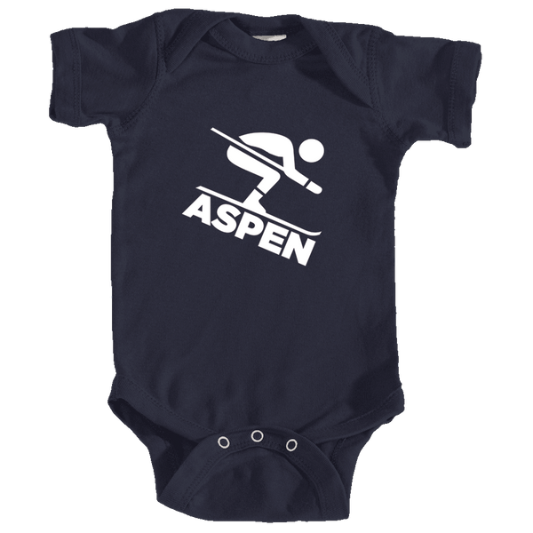 Aspen, Colorado Downhill Snow Skiing - Infant Onesie/Bodysuit