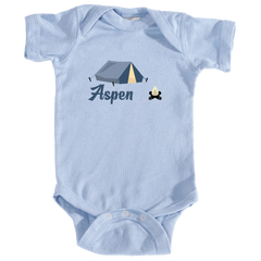Aspen Camping & Camp Fire - Colorado Infant Onesie/Bodysuit