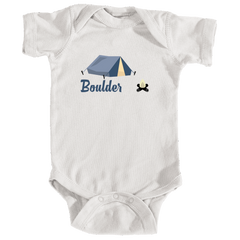 Boulder Camping & Camp Fire - Colorado Infant Onesie/Bodysuit