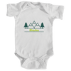 Alaska Mountain & Trees in Green - Infant Onesie/Bodysuit