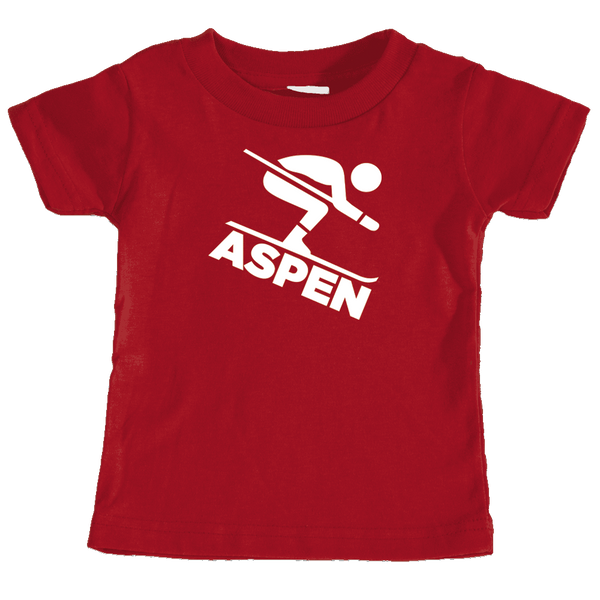 Aspen, Colorado Downhill Snow Skiing - Infant T-Shirt