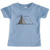 Aspen, Colorado Camping Hand Drawn - Infant T-Shirt