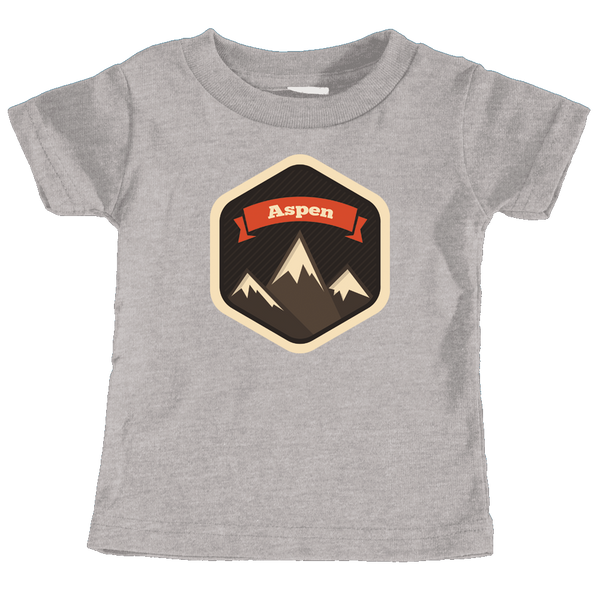 Aspen, Colorado Mountain Badge - Infant T-Shirt