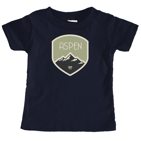 Aspen, Colorado Mountaineering Badge - Infant T-Shirt