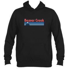 Beaver Creek, Colorado Vintage Mountain - Men's Hooded Sweatshirt/Hoodie