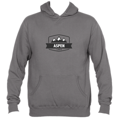 Aspen, Colorado Mountain Altitude - Men's Hooded Sweatshirt/Hoodie