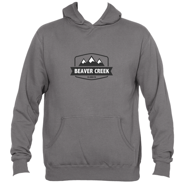 Beaver Creek, Colorado Mountain Altitude - Men's Hooded Sweatshirt/Hoodie